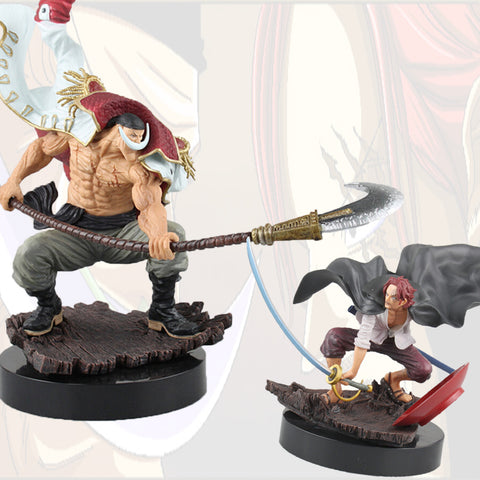 Anime One Piece White Beard vs Shanks Action Figure