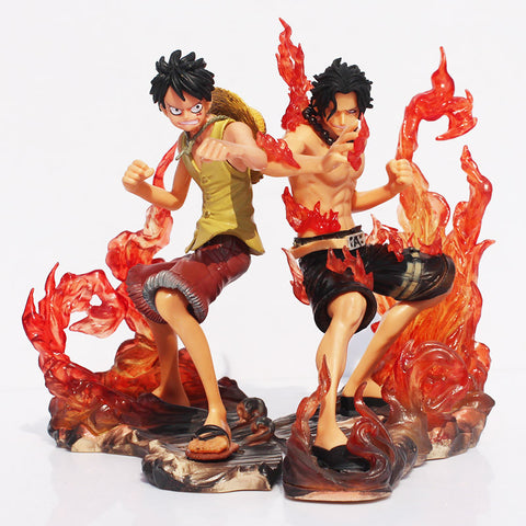 2pcs/set 15cm One Piece DX Luffy Ace Brotherhood