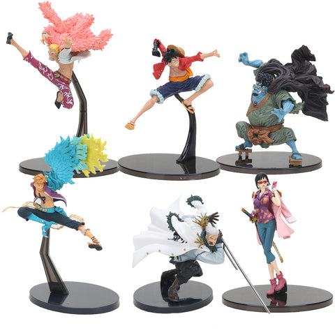 16-20cm  One piece Luffy Donquixote Doflamingo Jinbe Marco Smoker