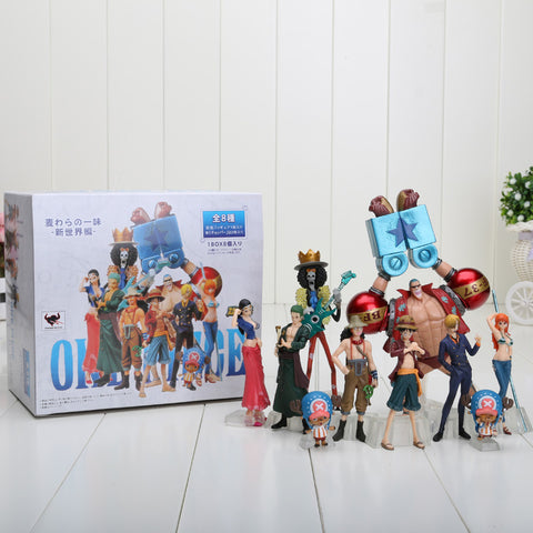 4-18cm One Piece Anime One Piece Figures Dolls Toys 2 Years Later Large
