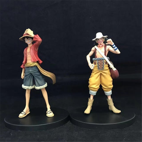 WVW 2pcs/Set Hot Sale Anime One Piece New World Luffy Usopp Model PVC Toy Action Figure Decoration For Collection Gift