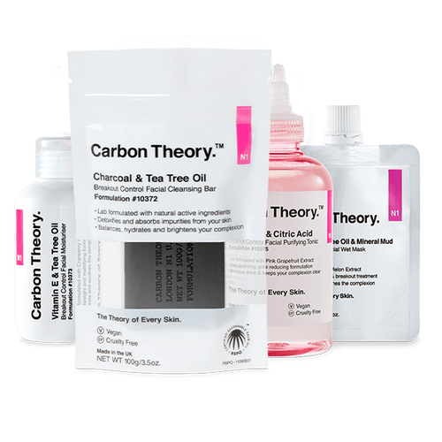 Carbon Theory breakouts and acne regime