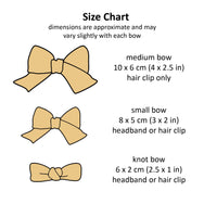 size chart for hair bows