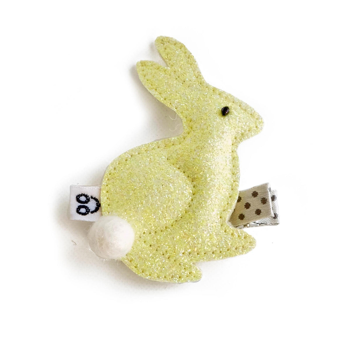bunny hair clip in yellow
