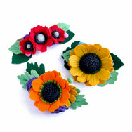 fall felt flower crown collection