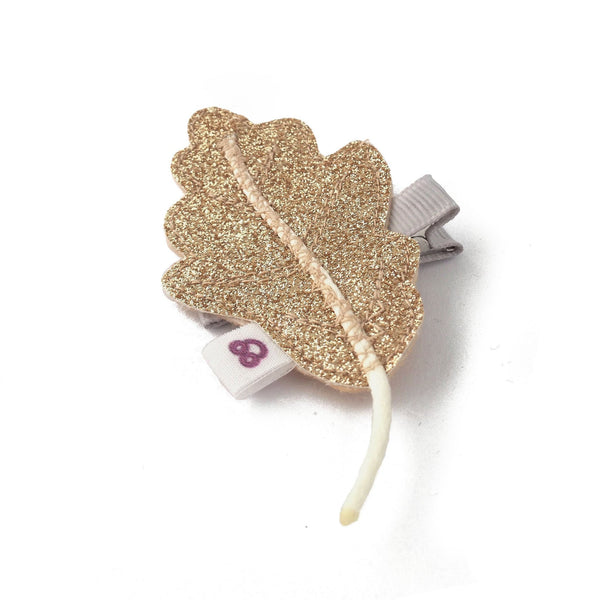 Gold Oak Leaf Hair Clip