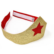 Wonder Woman Tiara - Reversible - Gold and Red