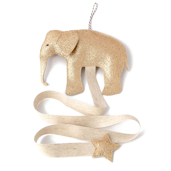 Hair Accessories Organizer Elephant in Gold