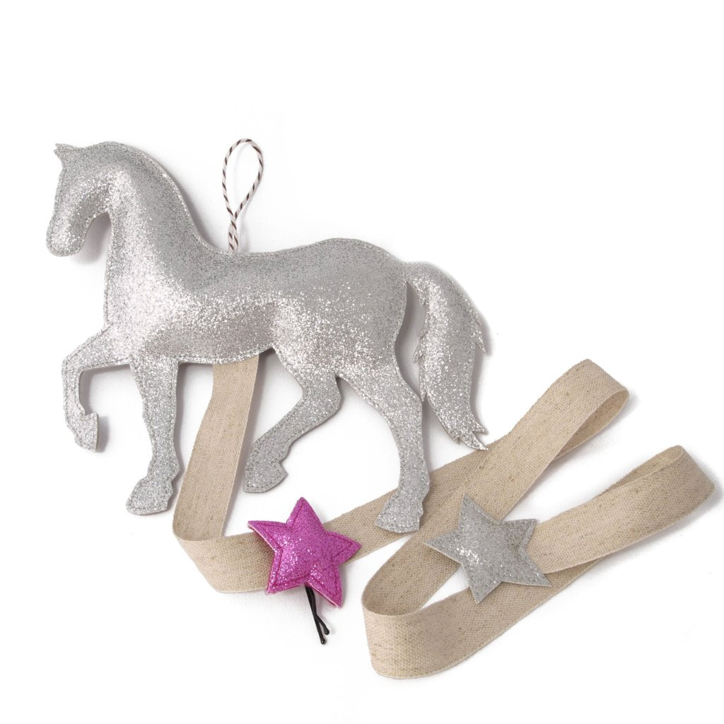 Hair Clip Storage Silver Pony