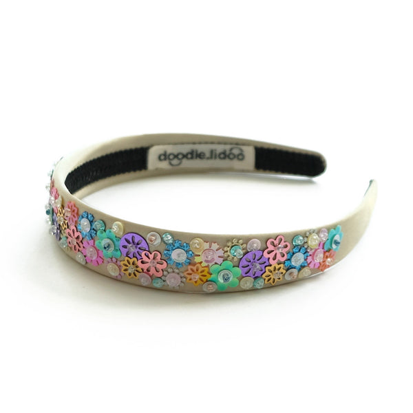 satin headband with sequin