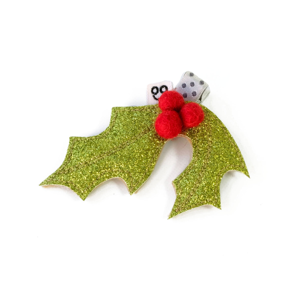 Holly hair clip.