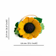 large yellow flower crown headband dimensions
