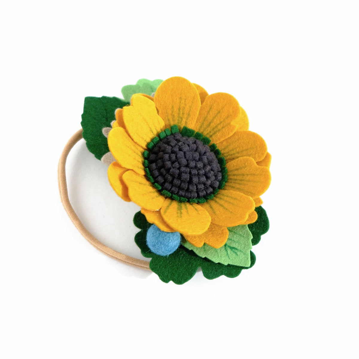 large yellow flower crown heaband