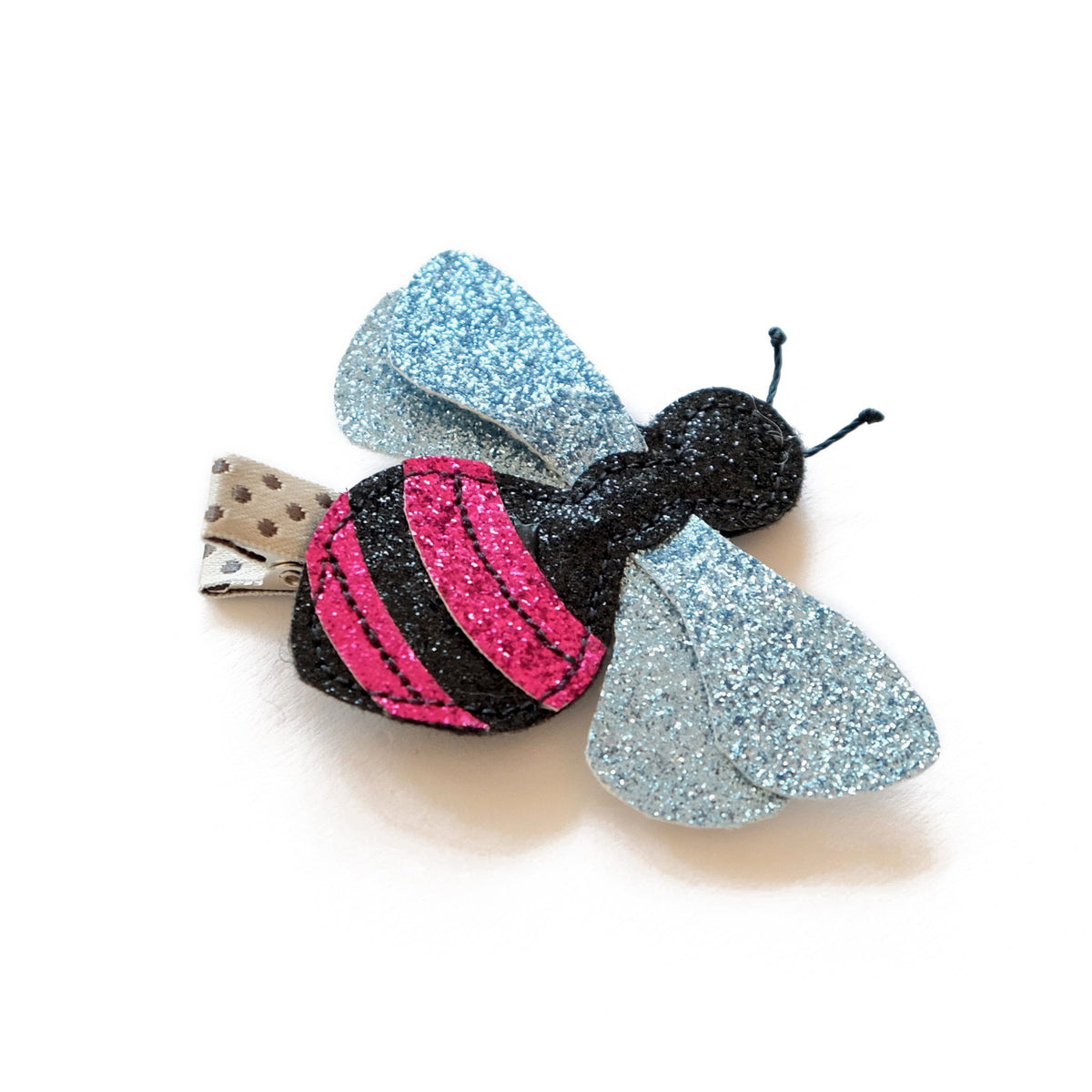 Pink Bee Hair Clip