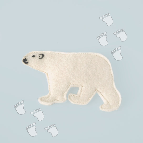 Polar bear hair clip feature.