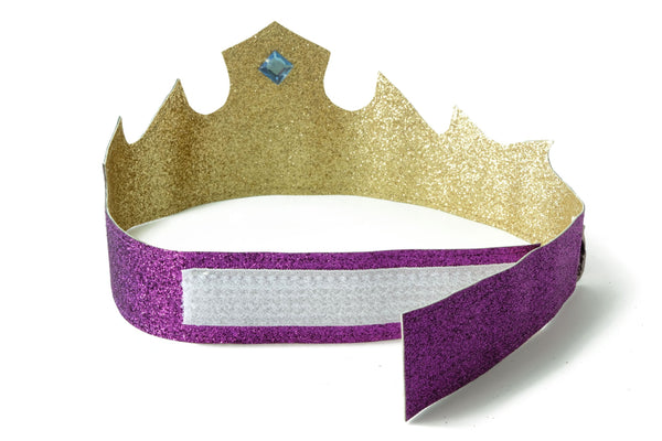 Princess Crown Purple Gold Design Closure