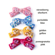 Velvet hair bow color chart.