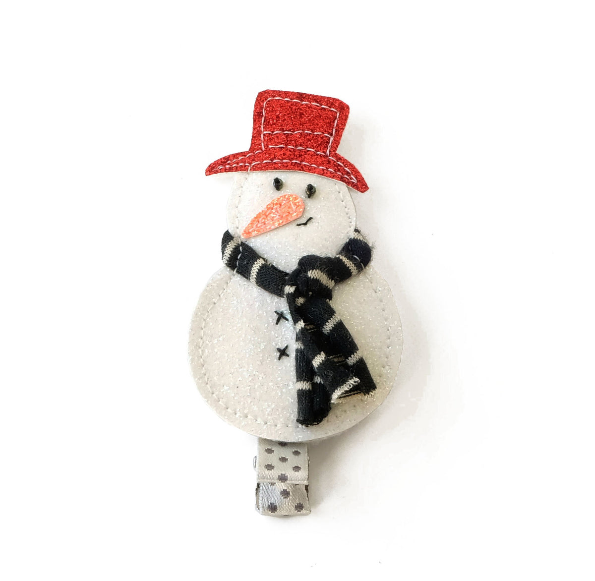 Frosty the Snowman Hair Clip.