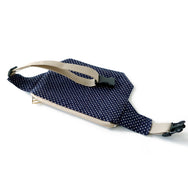 fanny pack blue polka dot backside