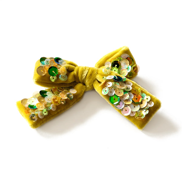 seagrass velvet hair bow