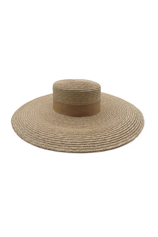 Rhea // Natural & Black Fedora