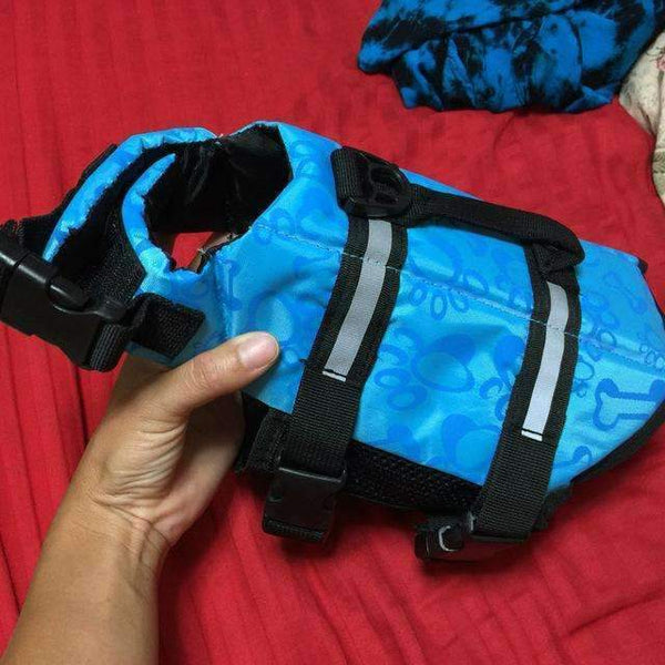 Breathable Dog Life Jacket Vest For Safety Swimming Blue / L
