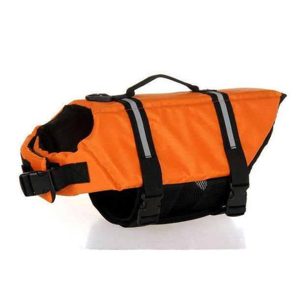 Breathable Dog Life Jacket Vest For Safety Swimming Gold / L