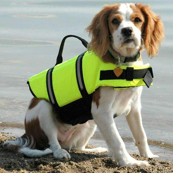 Breathable Dog Life Jacket Vest For Safety Swimming Green / L