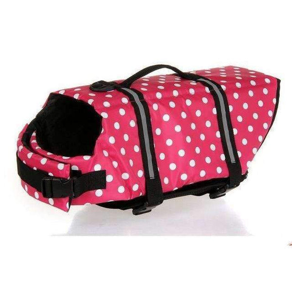 Breathable Dog Life Jacket Vest For Safety Swimming Pink / L