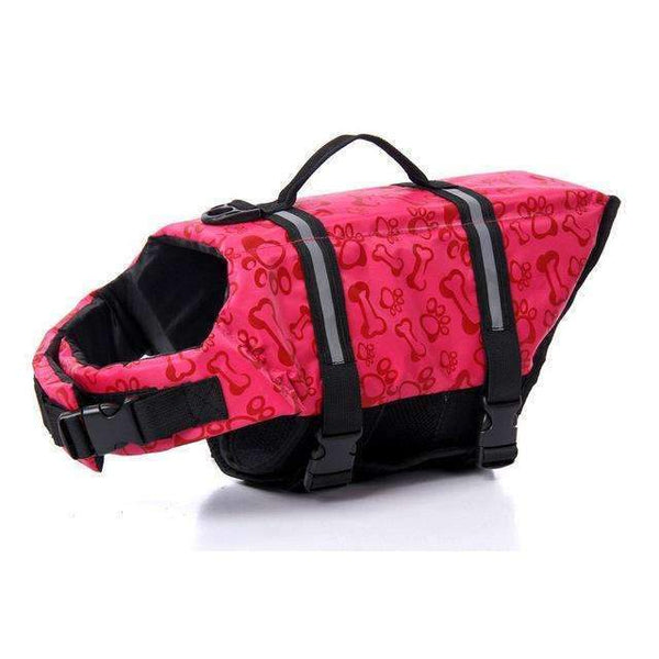 Breathable Dog Life Jacket Vest For Safety Swimming Red / L