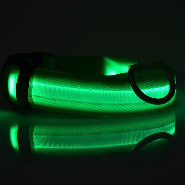 Cool Nylon LED Dog Collar For Small and Large Dogs 7 Colors Available