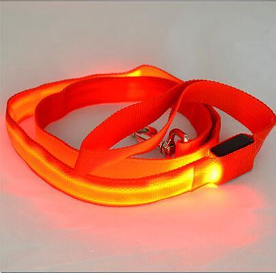Cool Nylon LED Dog Leash For Small and Large Dogs 6 Colors Available Red / Width 25mm