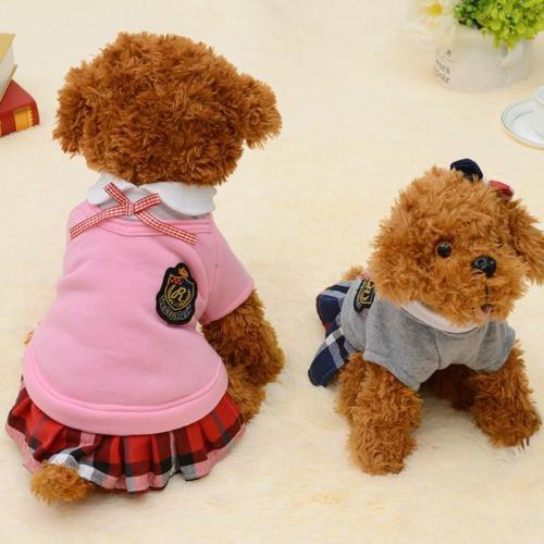 Cute School Style Dog Costume Suit and Dress For For Small Dogs And Puppies