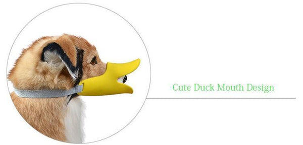 Cute Silicone Duck Mouth Anti-bite and Bark Dog Muzzle