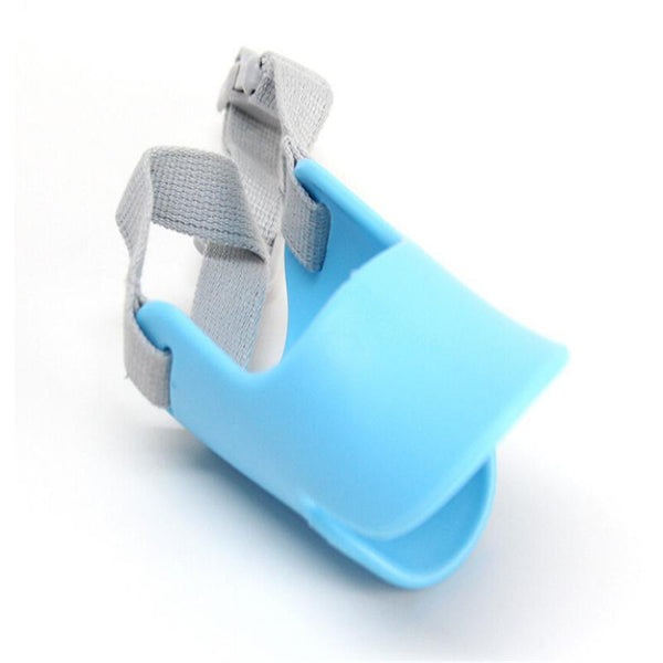Cute Silicone Duck Mouth Anti-bite and Bark Dog Muzzle Blue / L