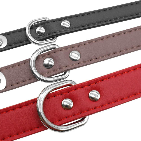 Free Engraving Leather Personalized Dog Collars For Medium and Large Dogs