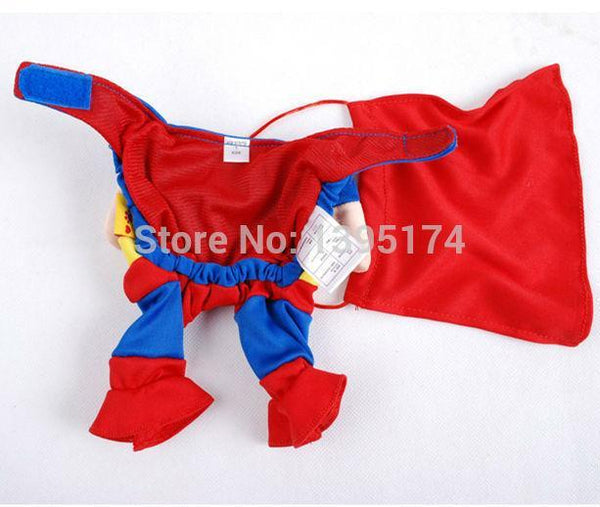 Funny Superman Dogs Costume Outfit