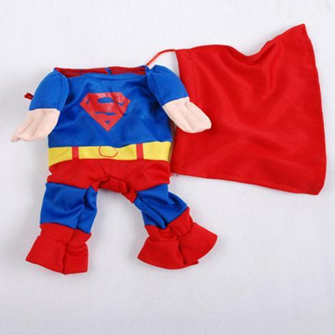 Funny Superman Dogs Costume Outfit superman custome / 1