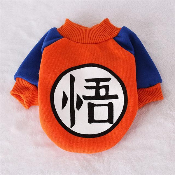 Goku, Spongebob, Totoro, Sullivan Cartoon Coat Dog Costume Clothes for Small Dogs and Puppy Orange / L