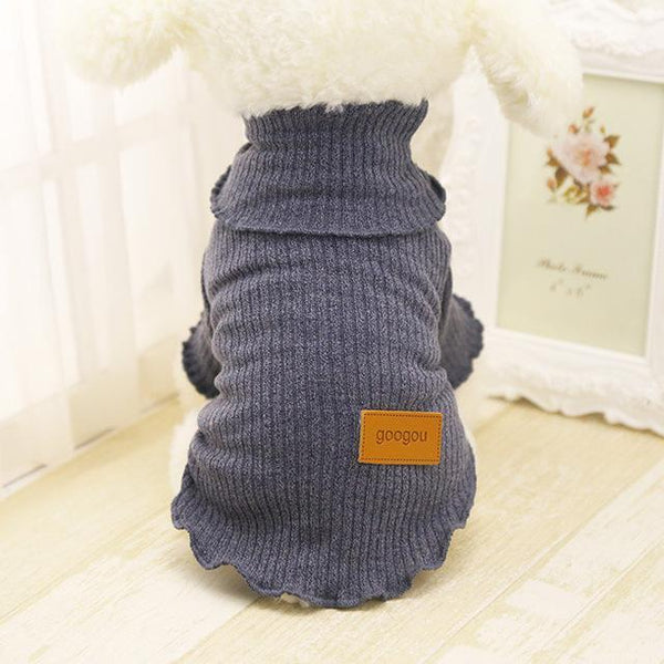Googou Dog Clothes Warm Outfit For Small Dogs and Puppies Gray / L