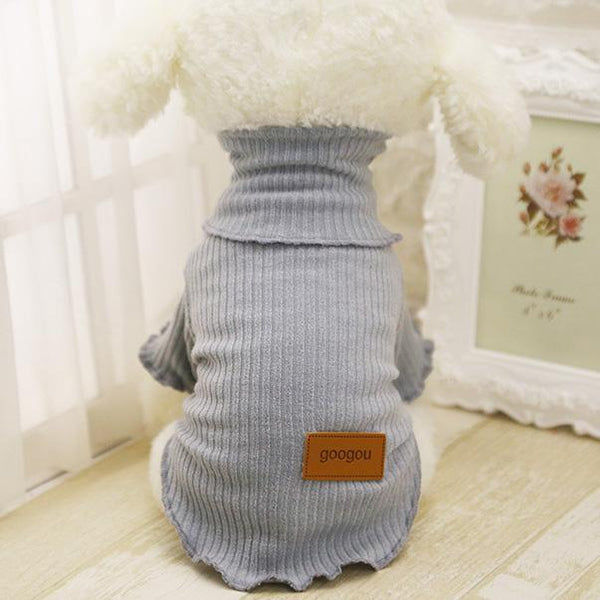Googou Dog Clothes Warm Outfit For Small Dogs and Puppies Light Gray / L