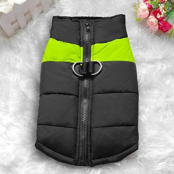 Size S-7XL Waterproof Dog Vest Jacket Green / S