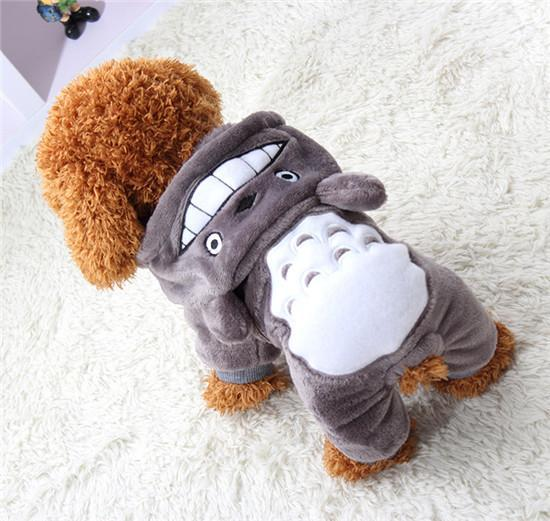 Totoro Dog Hoodie Clothes For Small Dogs And Puppies Grey / L