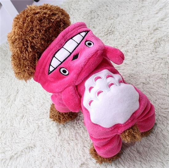 Totoro Dog Hoodie Clothes For Small Dogs And Puppies Pink / L