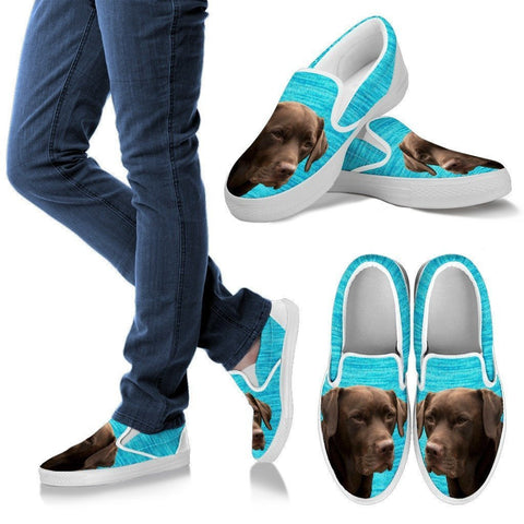 Labrador Retriever (Chocolate) Print-Slip Ons For Women-Express Shipping