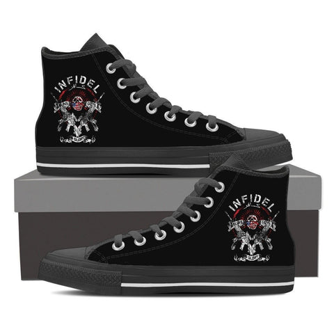 Infidel Guns And Glory-Women's Canvas Shoes-Free Shipping
