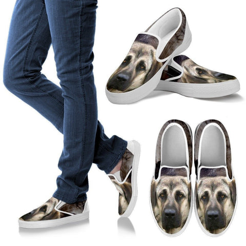 Anatolian Shepherd Print Slip Ons For Women- Express Shipping