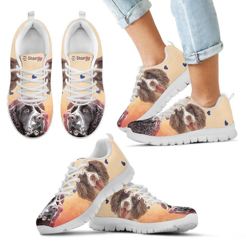 English Springer Spaniel Print Running Shoes For Kids- Free Shipping