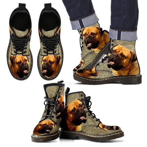 Bullmastiff Print Boots For Men-Express Shipping-Paww-Printz-Merchandise