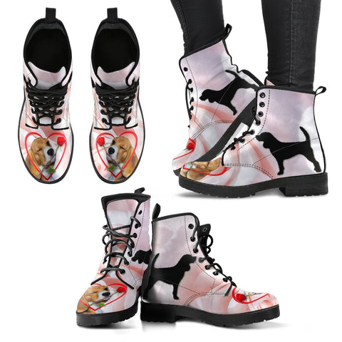 Valentine's Day Special-Beagle With Red Rose Boots For Women-Free Shipping